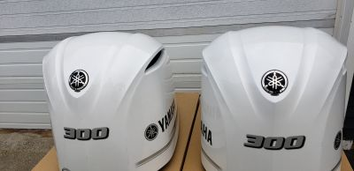 FS: (2) Two Yamaha 300HP cowls WHITE