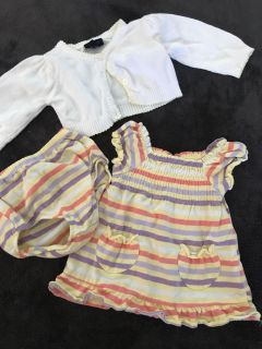 0-3 month dress with sweater
