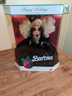 Velvet and jewels special edition Happy holidays Barbie