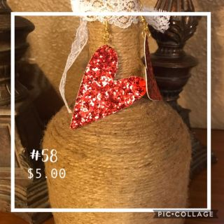 Red beer earrings