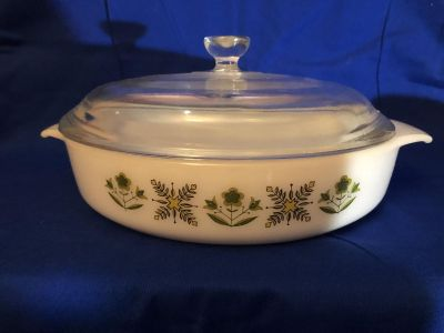 Vintage Anchor Hocking Bakeware with Lid