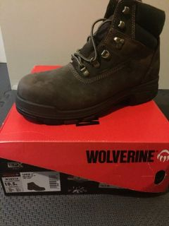 Men's brand New sz 10.5 Wolverine Cabor Waterproof 6-Inch Work Boots steel toe