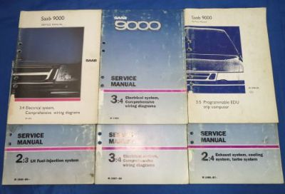 Purchase Lot of 6 OEM SAAB 9000 Electrical Engine Turbo Wiring Service Repair Manuals motorcycle in Bethpage, Tennessee, United States