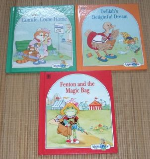 Vintage 1990 Lot of 3 Alpha Pets Illustrated Hard Cover Series Books Ruth Perle C D F
