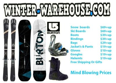 Sale on Snowboard,Skis,Bindings & Boots