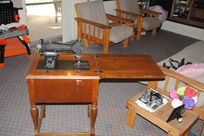 Kenmore sewing machine with cabinet circa 1942