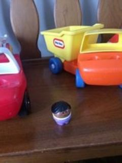 6 Vintage Fisher Price Trucks plus a Chunky Person