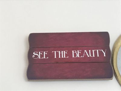 See the Beauty Wooden Wall Decor