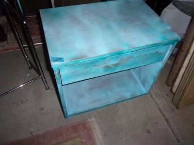 Painted End Table/Night Stand