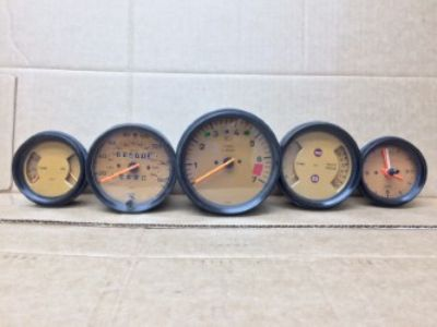 1985 Porsche Dash Gauges VDO Orange Face