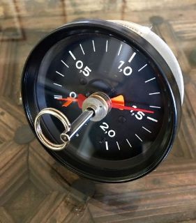 Purchase Porsche 911 930 Turbo Boost 2.0 Bar Gauge VDO Tell Tale OEM with reset Key motorcycle in Pleasanton, California, United States, for US $1,250.00