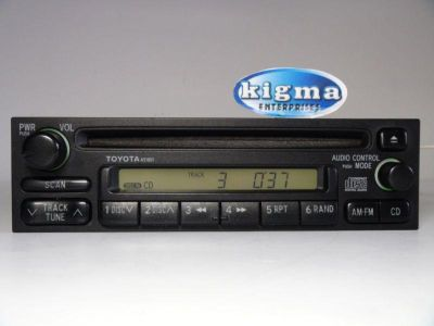Purchase Toyota 4 Runner Sienna Corolla 98-02 CD player 2-plug A51801 see VIDEO 57284g motorcycle in Philadelphia, Pennsylvania, US, for US $115.00