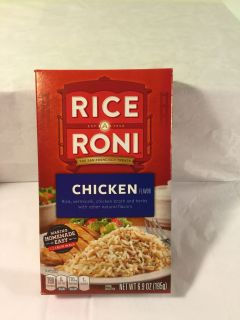 Rice-A-Roni chicken flavored rice, expiration of May 2020