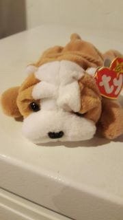 Ty Beanie Baby Wrinkles Puppy