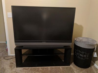 46 in Mitsubishi projection tv with stand