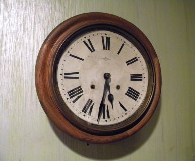 8 Day Japanese School Train Clock Antique 1903
