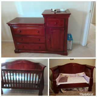 Crib and Diaper Changing Dresser