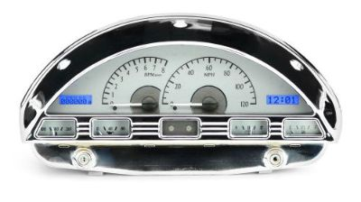 Find 1956 Ford F100 Gauges Silver White Dash Dakota Digital VHX-56F-PU-S-R motorcycle in Fullerton, California, United States, for US $755.25
