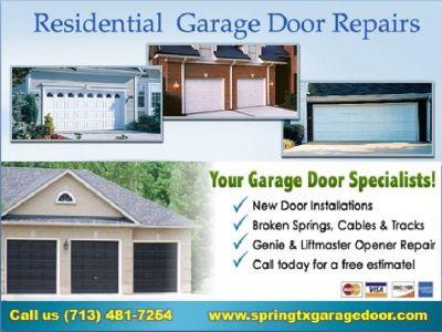 1 hour Instant Garage Door Installation Services $25.95 77379 Spring TX