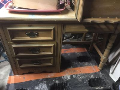 Desk nightstand and chair