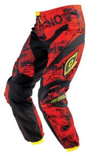 Sell O'Neal Oneal Element Toxic Red Youth Dirt Bike Pants Off-Road Motocross MX ATV motorcycle in Ashton, Illinois, US, for US $62.99