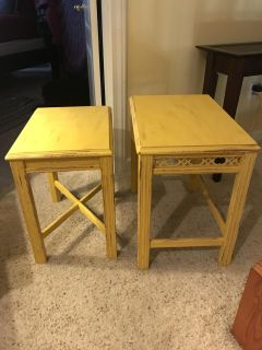 2 small tables.