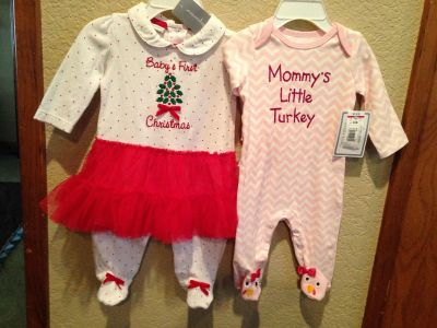 NEW Baby's First Christmas/Thanksgiving 0-3 months