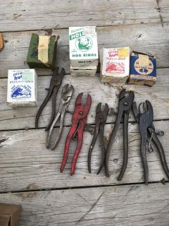 Hog ring pliers and rings(some full boxes) All for $30