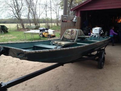 ... 14 flat bottom boat and trailer & Flat Bottom Boat - Vehicles For Sale Classifieds in Hawkins TX ...