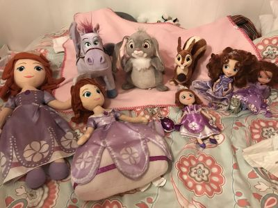 Lot of Sofia the First Toys