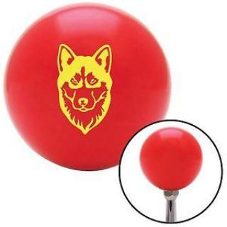 Purchase Yellow Husky Red Shift Knob with M16 x 1.5 Insert 7.3 street rod sbc 1932 motorcycle in Portland, Oregon, United States, for US $29.97