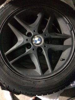 BMW winter tires and rims 16 inch 5 bolt