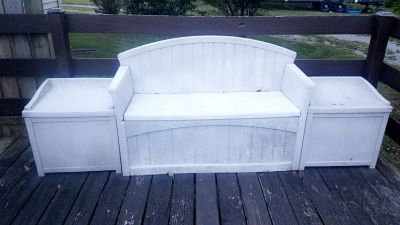 Outdoor storage bench and seats
