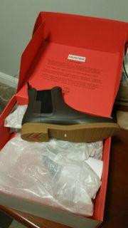 Mens British Hunter Chelsea Waterproof Boots, Swamp Green, size 10