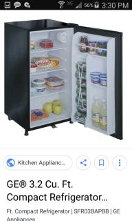 GE Black Mini Fridge