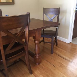 Dining Table, Hewn Oak, Pottery Barn