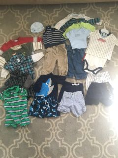 Sizes 6 & 6-9 baby bot lot. Shark outfit is a bathing suit. Smoke free, pet friendly home. X-Posted.