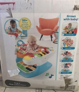 Fisher Price 4 in 1 step and play piano - like new