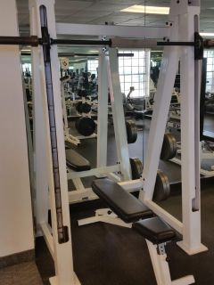 smith machine gym grade with bench and weights