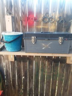 Toolbox and minnow bucket