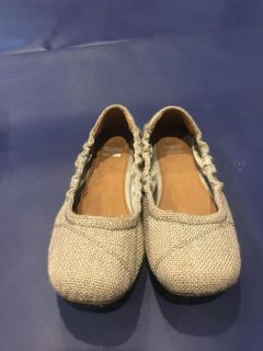 Toms gray/silver sparkle ballet flats size Y1.5