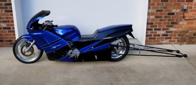 Small tire Kawasaki Dragbike