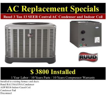 Affordable Central Air Repair – Tune Ups, Freon, Installations & Repairs