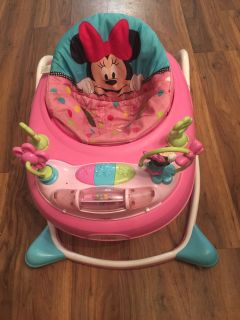 Baby girls mini mouse walker