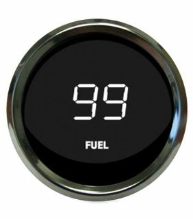Buy Universal Digital Fuel Level Gauge White Chrome Bezel Intellitronix MS9016-W USA motorcycle in North Olmsted, Ohio, US, for US $49.45