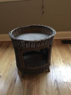 Very old antique wicker cat bed