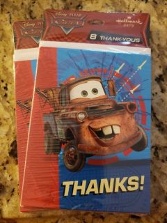 Cars (Mater) Thank you cards
