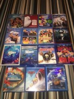 Disney/Pixar Bluray Lot