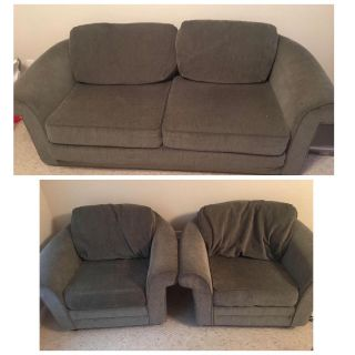 Sofa bed and 2 chairs