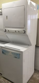 "Frigidaire 27"" Washer and Electric Dryer Stackable Unit 220V"